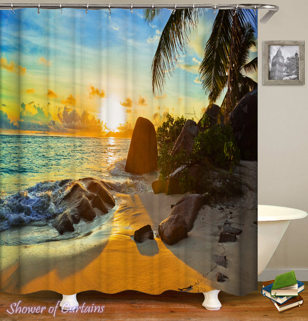 Shower curtain of Ocean View Sunset