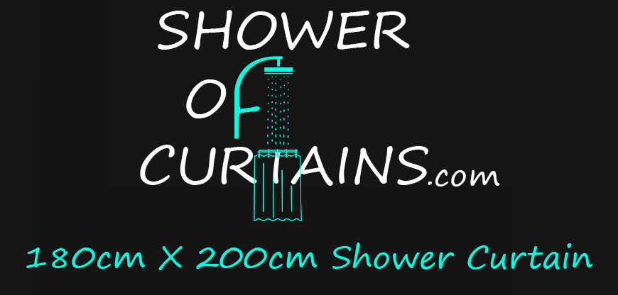 Shower curtains 180x200