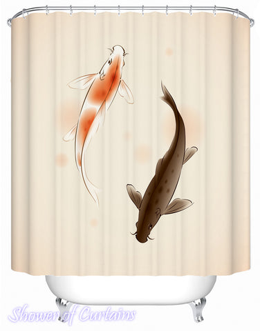 A Pair Of Carp Fish Shower Curtain