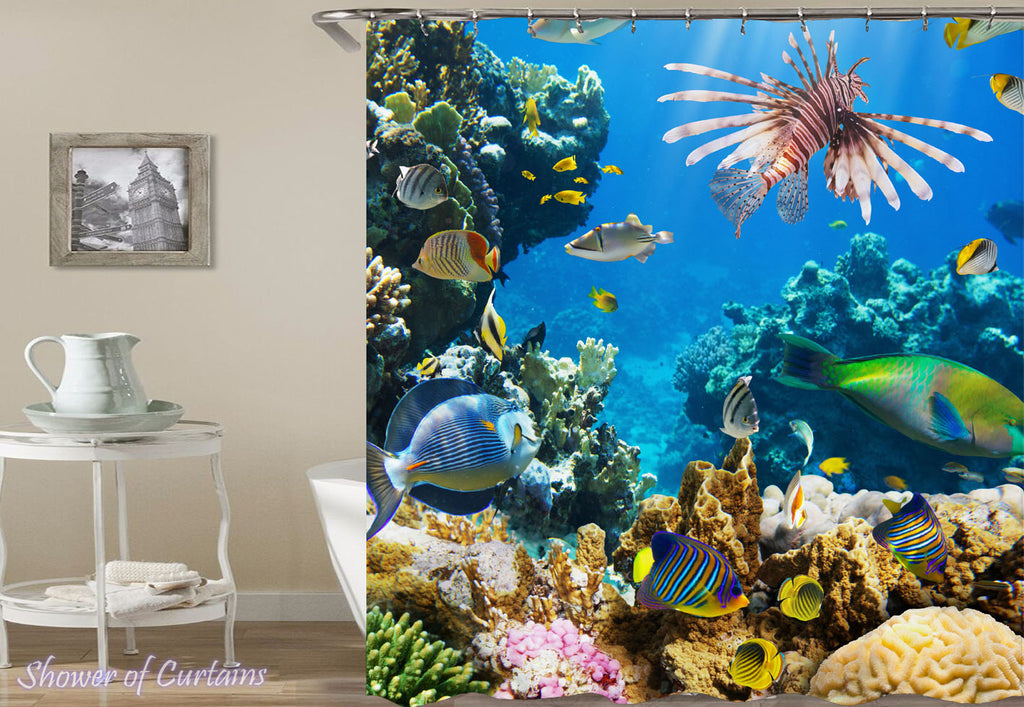 A Stunning Coral Shower Curtain design