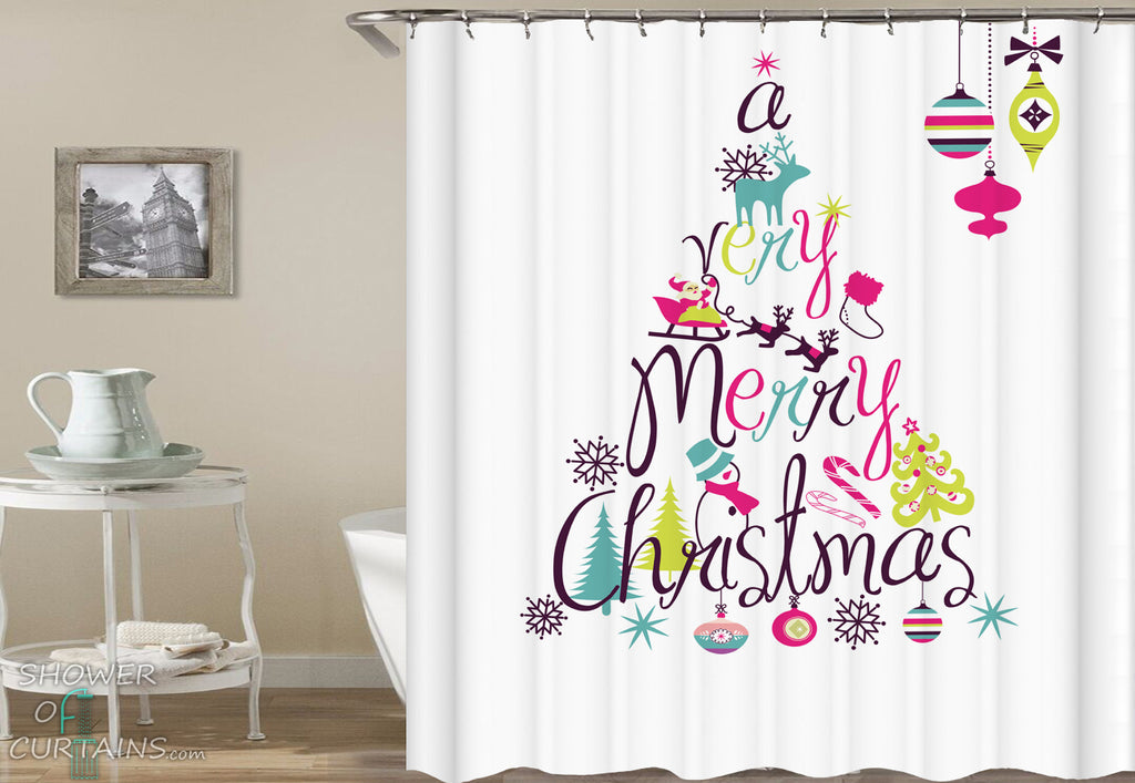 A Very Merry Christmas Shower Curtains