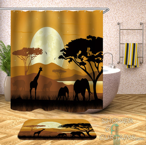 African Animal Shower Curtains - The African View