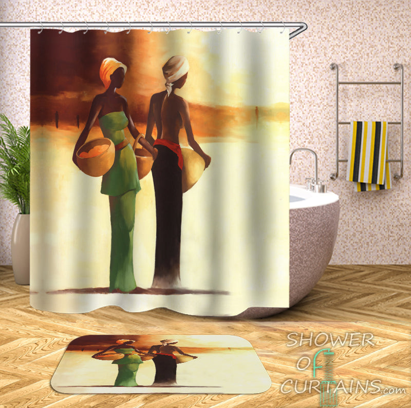 African Shower Curtain of African Ladies
