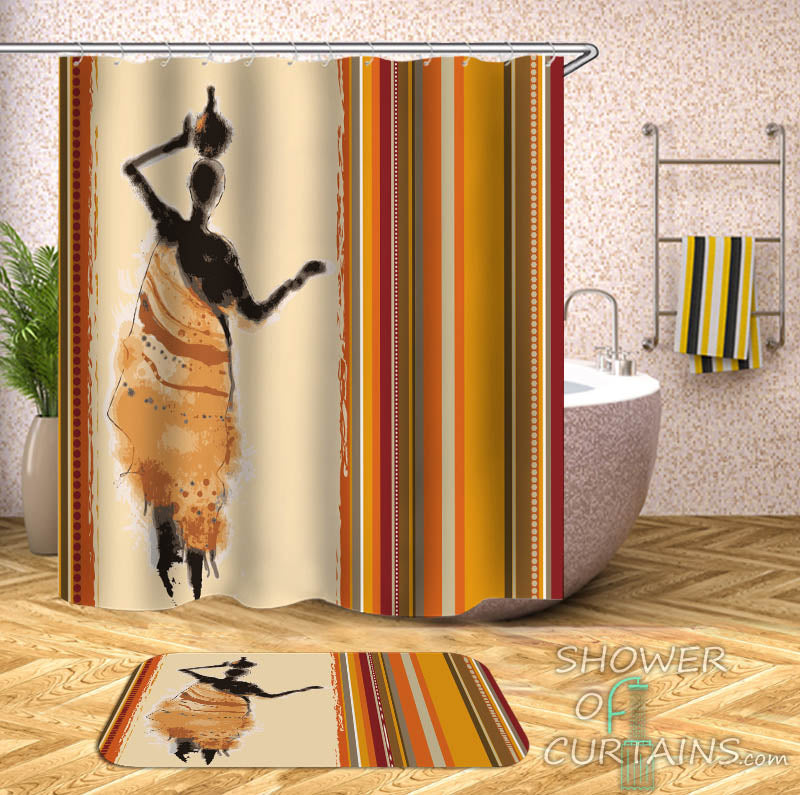 African Themed Shower Curtain
