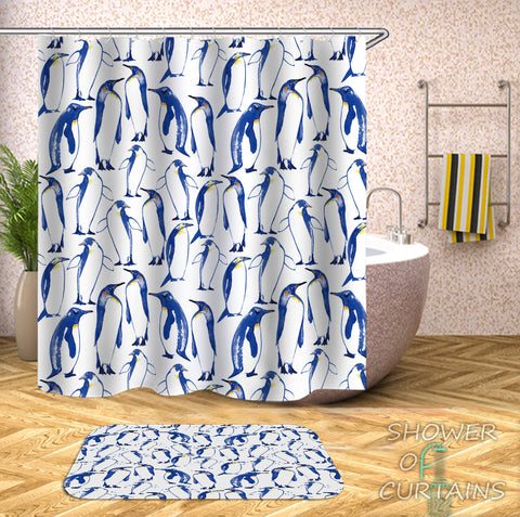 Animal - Patter Of Penguin Shower Curtain