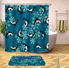 pattern-of-whales-shower-curtains