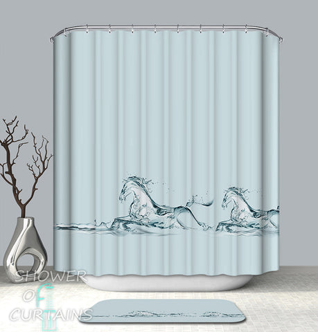Art - Water Magic Horses Shower Curtain