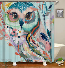 art-painting-owl-shower-curtain