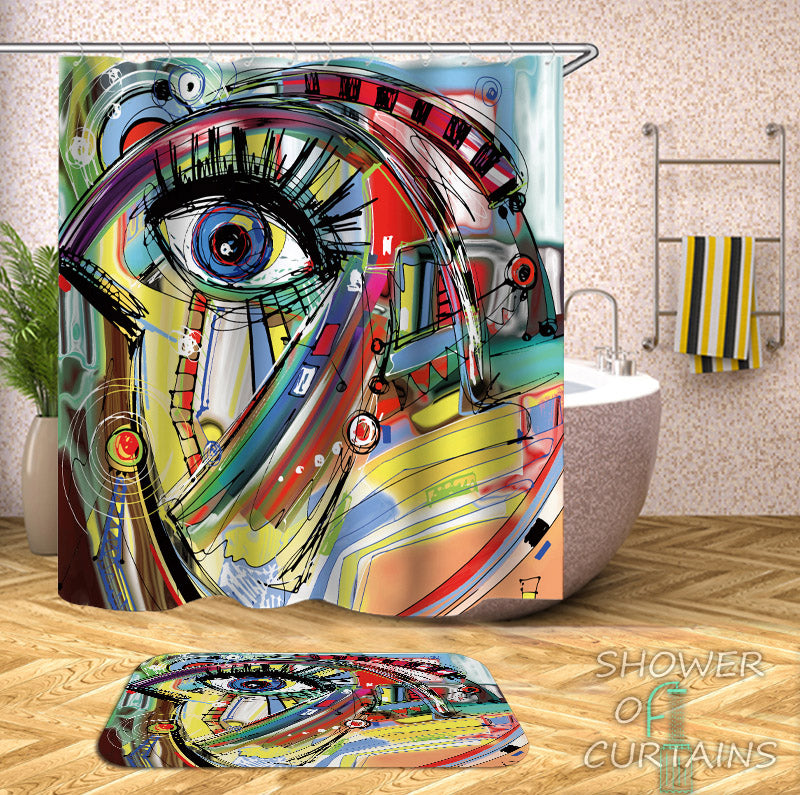 Art Shower Curtains of Art Painting Picasso
