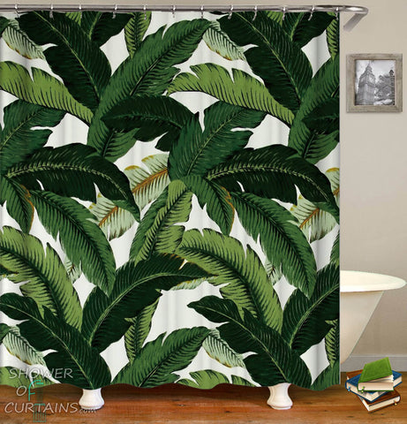 Banana Leaves Shower Curtain