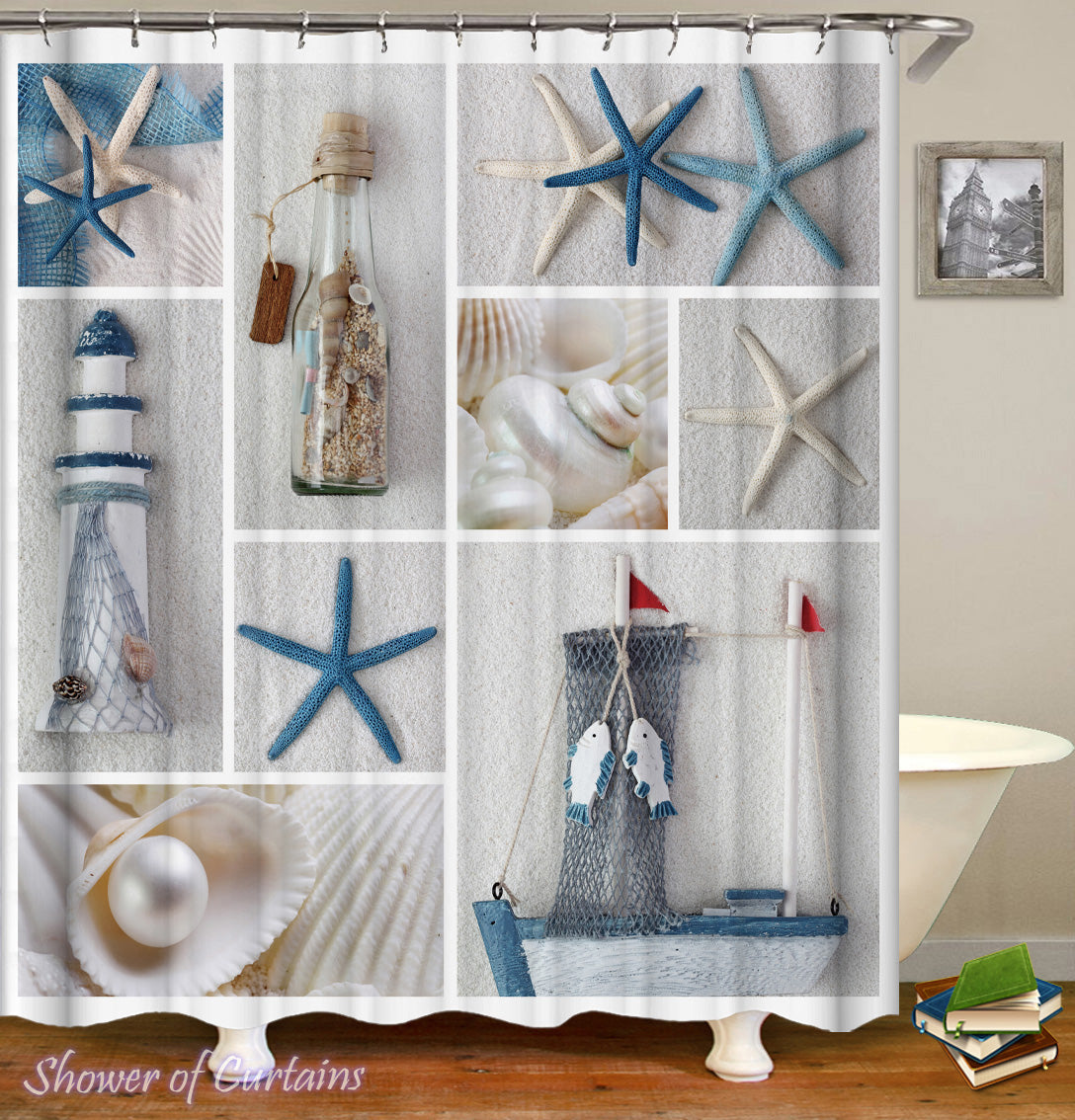 Beach Coastal Shower Curtain Of Beauty