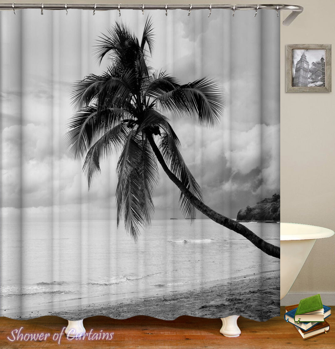 Shower Curtains Black And White Coconut Tree Shower Of Curtains
