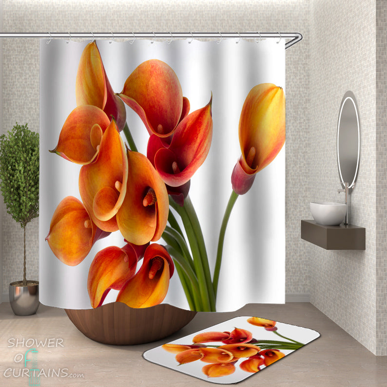 Calla Lily Shower Curtain - Floral Bathroom Decor