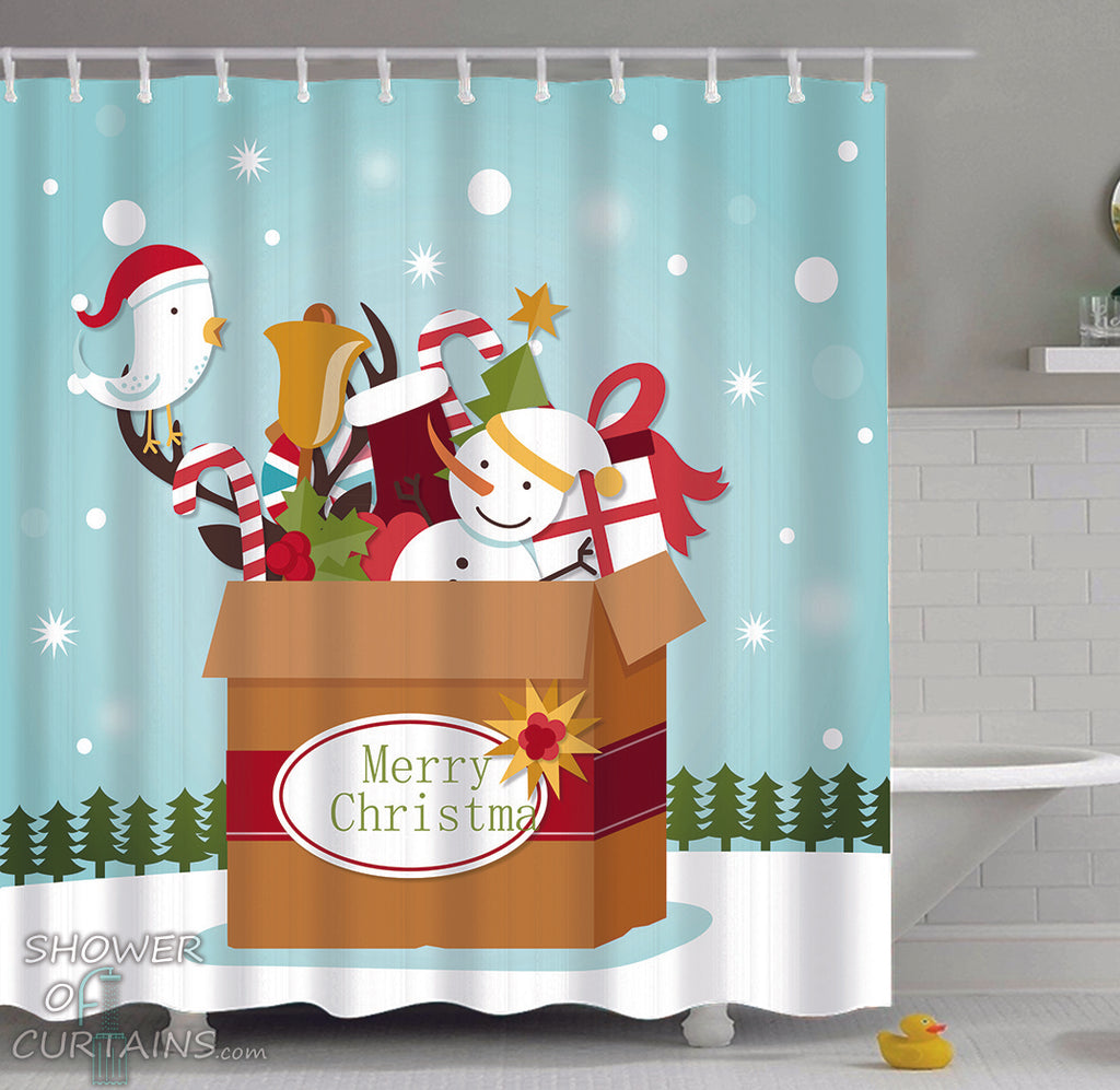 Christmas Shower Curtains - Christmas Box