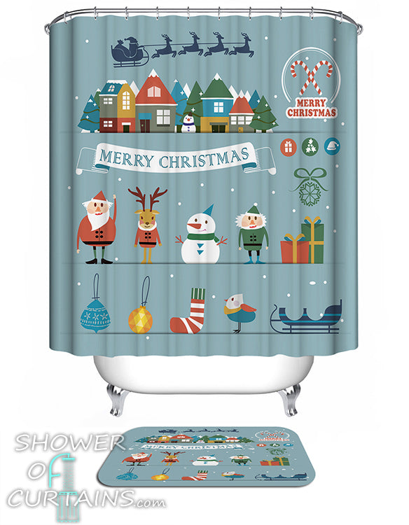 Christmas Shower Curtains Team