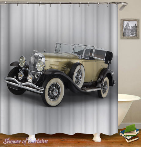 Classic Convertible Car Shower Curtain