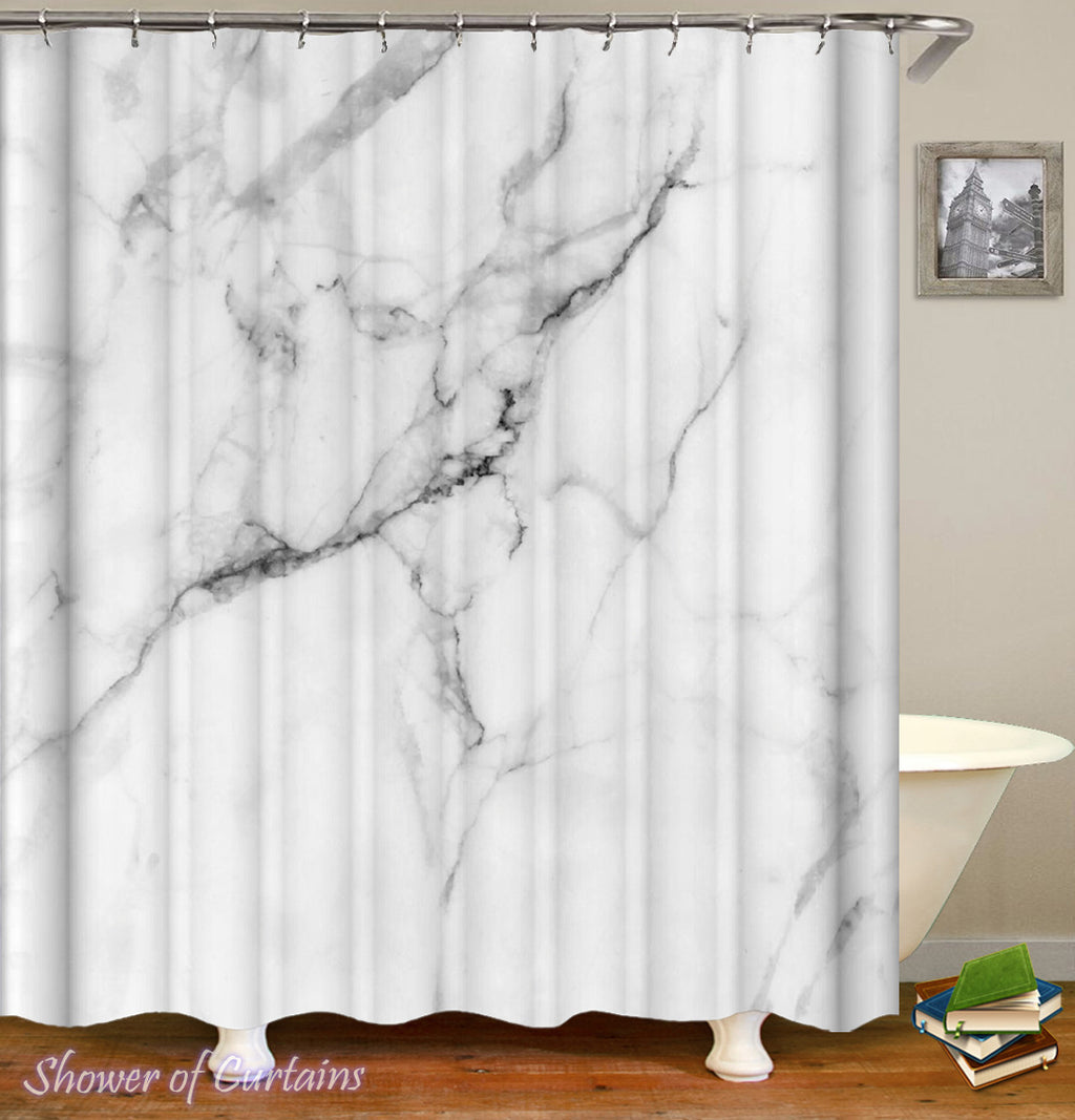 Classic Marble Shower Curtain