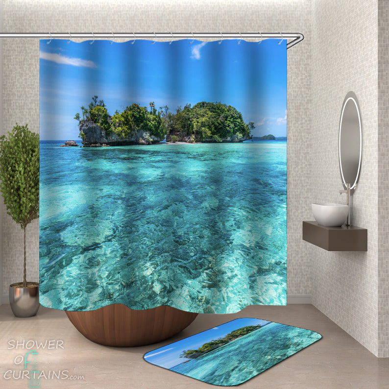 Clear Ocean Shower Curtain