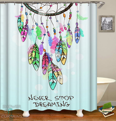 Colorful Dream Catcher Shower Curtain