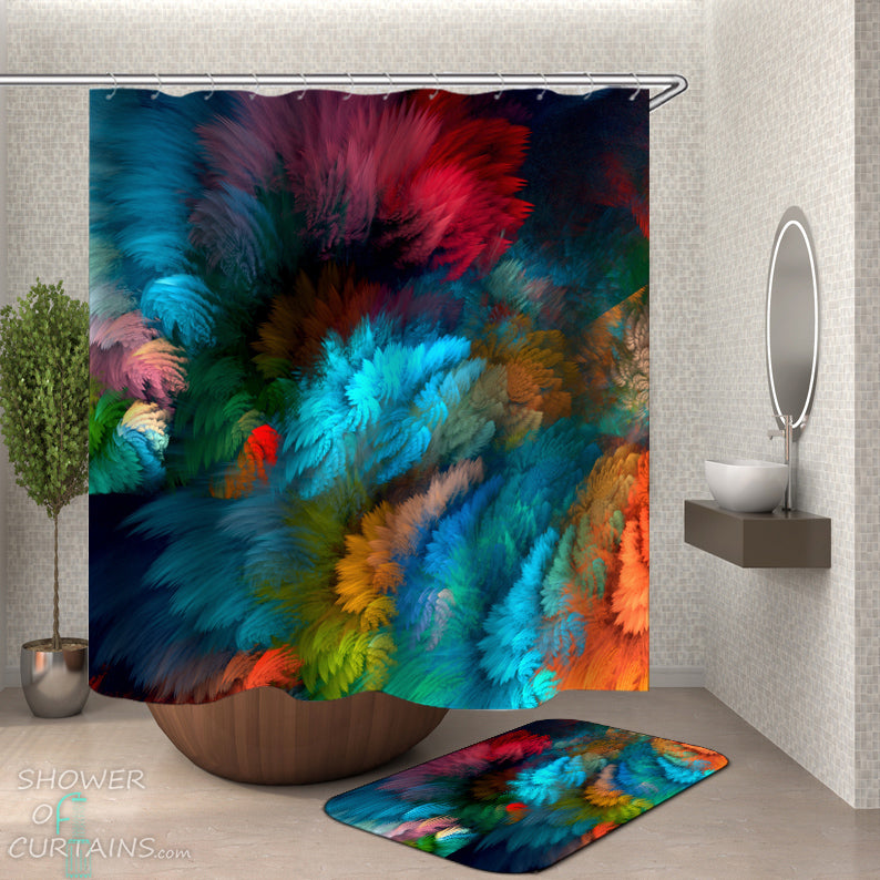 Colorful Shower Curtains of Colorful Blur