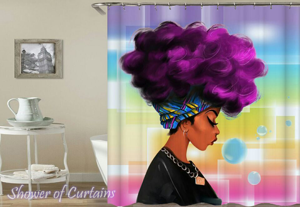 Colorful Shower curtains of Bohemian Lady