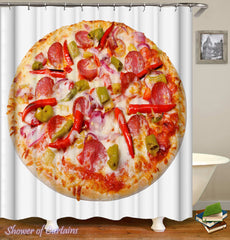 spicy-pepperoni-pizza-shower-curtain