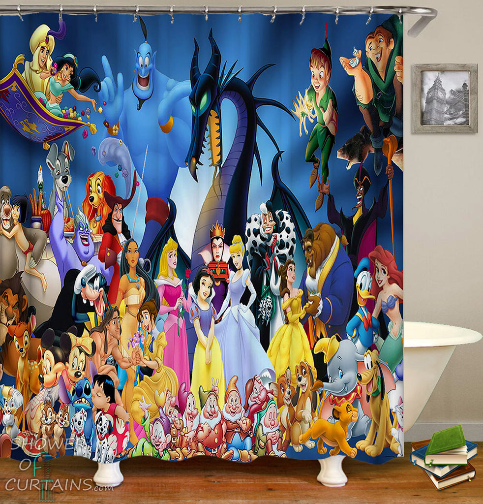 Disney Shower Curtain - Kids' Bathroom Decor