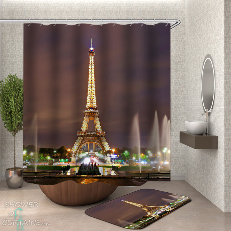 Eiffel Tower Bathroom Decor - View of the Eiffel Tower
