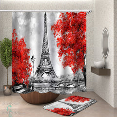 art-fall-eiffel-tower-shower-curtain