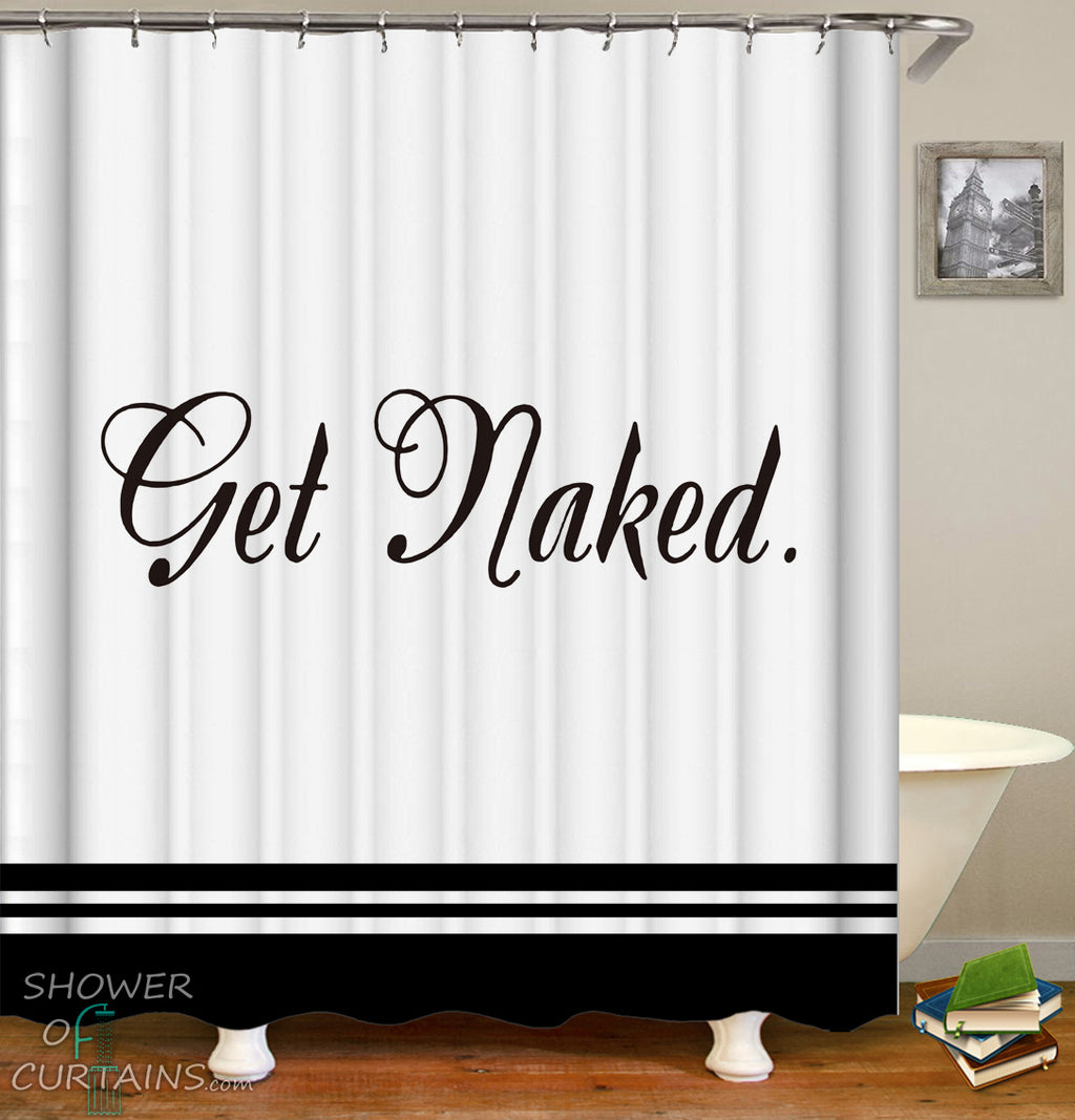 Elegant Get Naked Shower Curtain