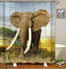 mighty-elephant-shower-curtain-in-the-wild