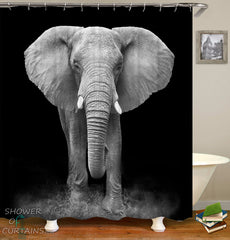 black-and-white-elephant-shower-curtain