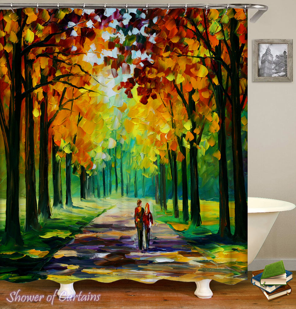 Fall Shower Curtain - Autumn Painting