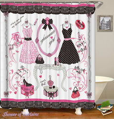 pink-fashion-love-shower-curtains
