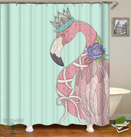 Flamingo Shower Curtain of Queen Flamingo