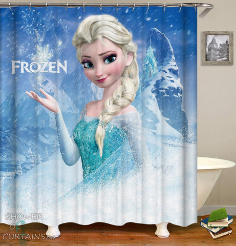 Frozen Elsa Shower Curtain