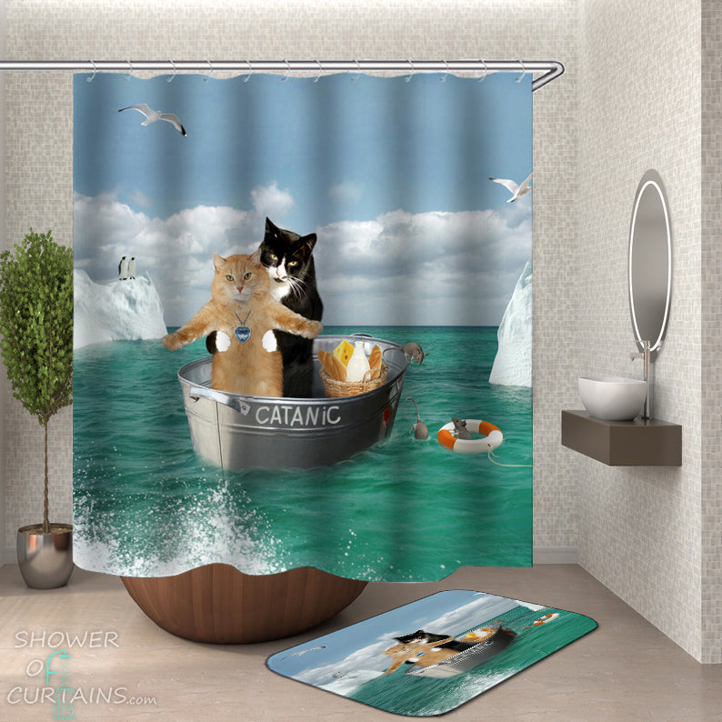 Cat Shower Curtain Collection