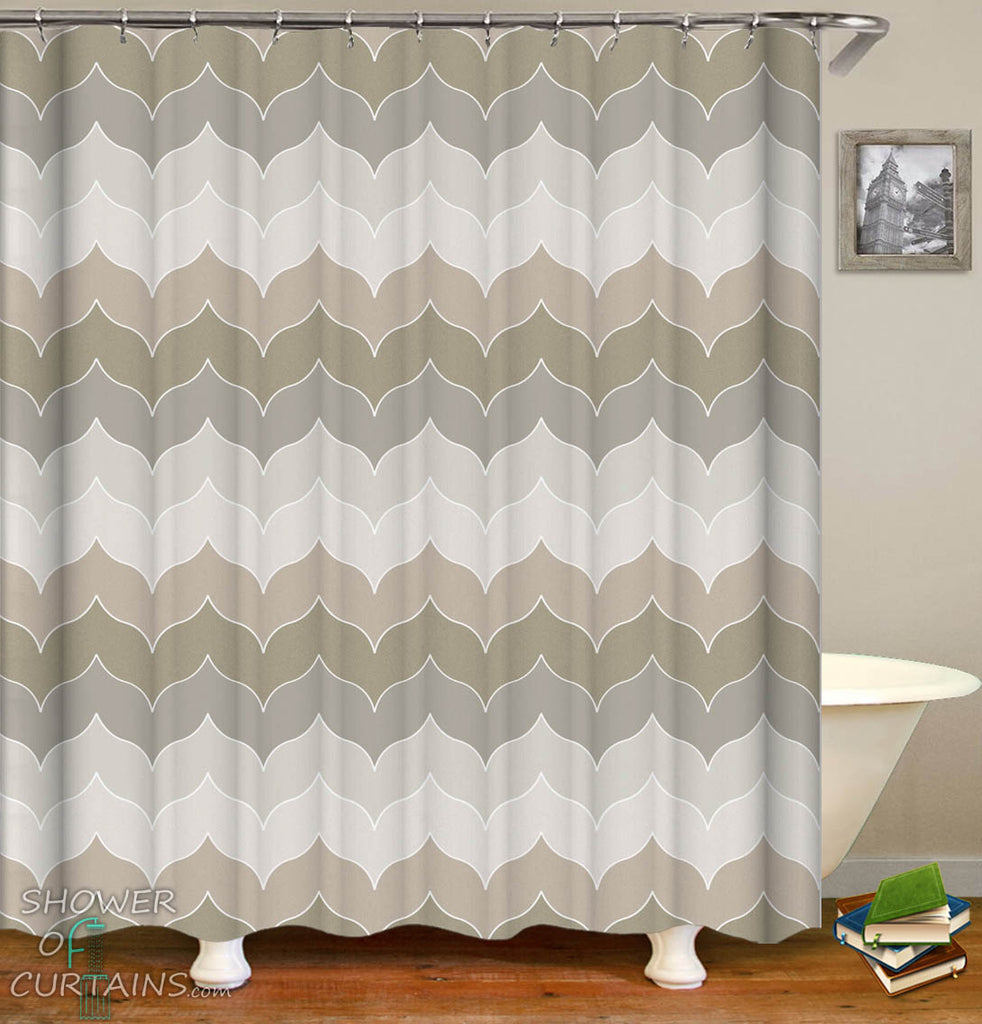 Grey Shower Curtain - Pastel Grey Hues