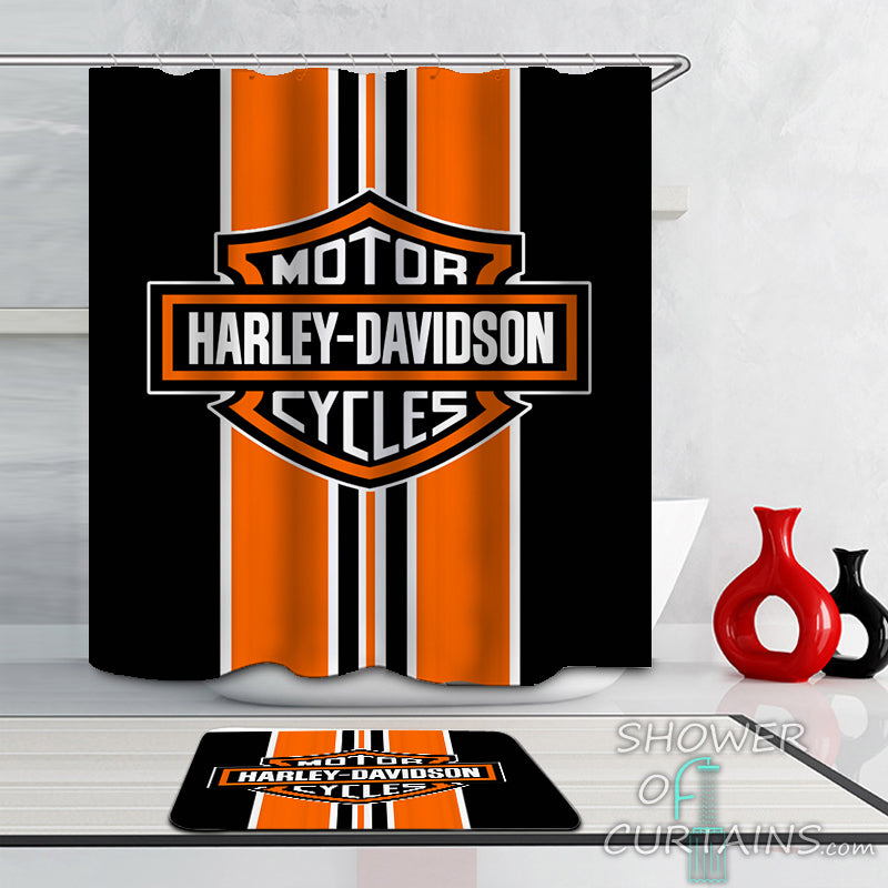 Shower Curtains Harley Davidson Classic Shower Of Curtains