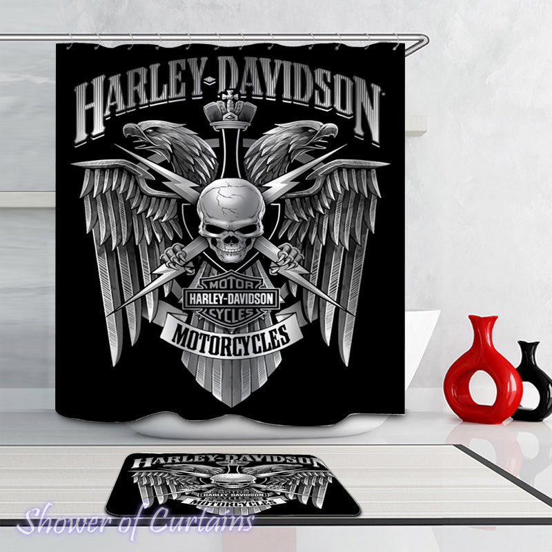 Harley Davidson shower curtain Royal Skull