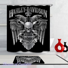 harley-davidson-royal-skull-shower-curtains