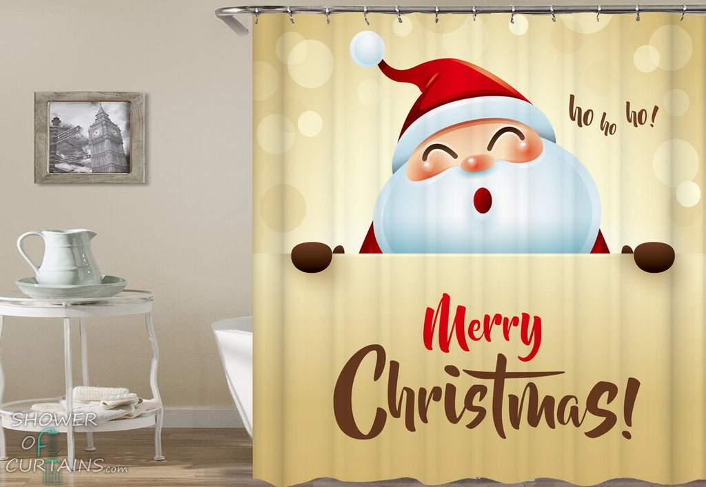 Ho Ho Ho Merry Christmas Shower Curtain