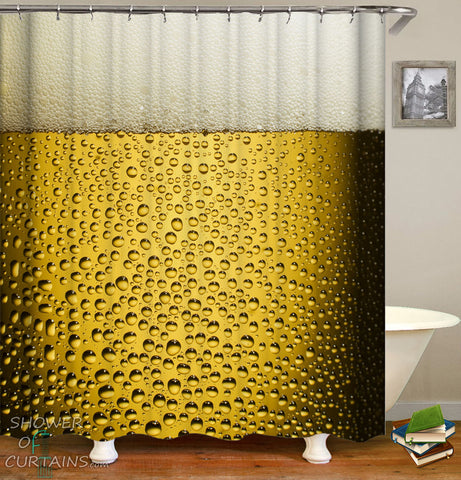 Ice Cold Beer Shower Curtain - Cool Shower Curtains