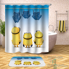 pants-drying-minions-shower-curtain