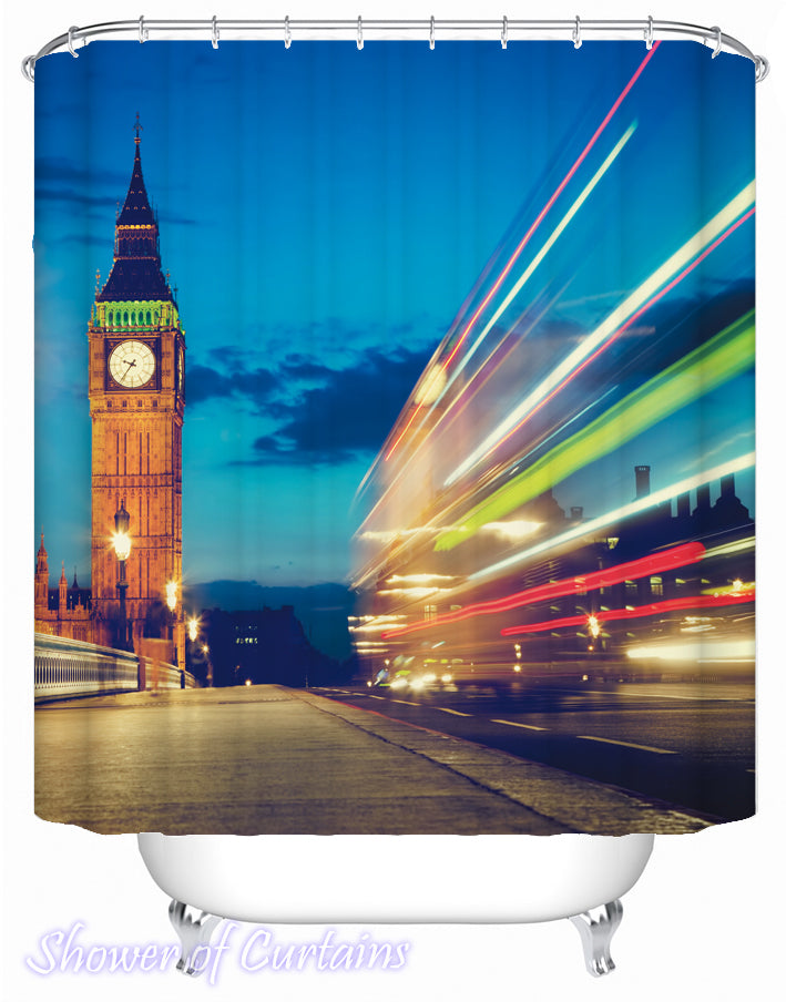 London shower curtain - Big Ben
