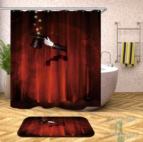 Magician's Bathroom Shower Curtains
