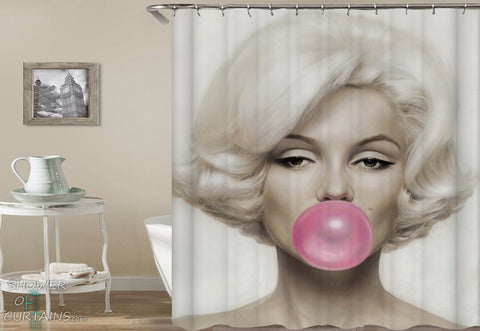 Marilyn Monroe Shower Curtain -  Bubblegum