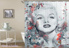 marilyn-monroe-pencil-portrait-shower-curtains