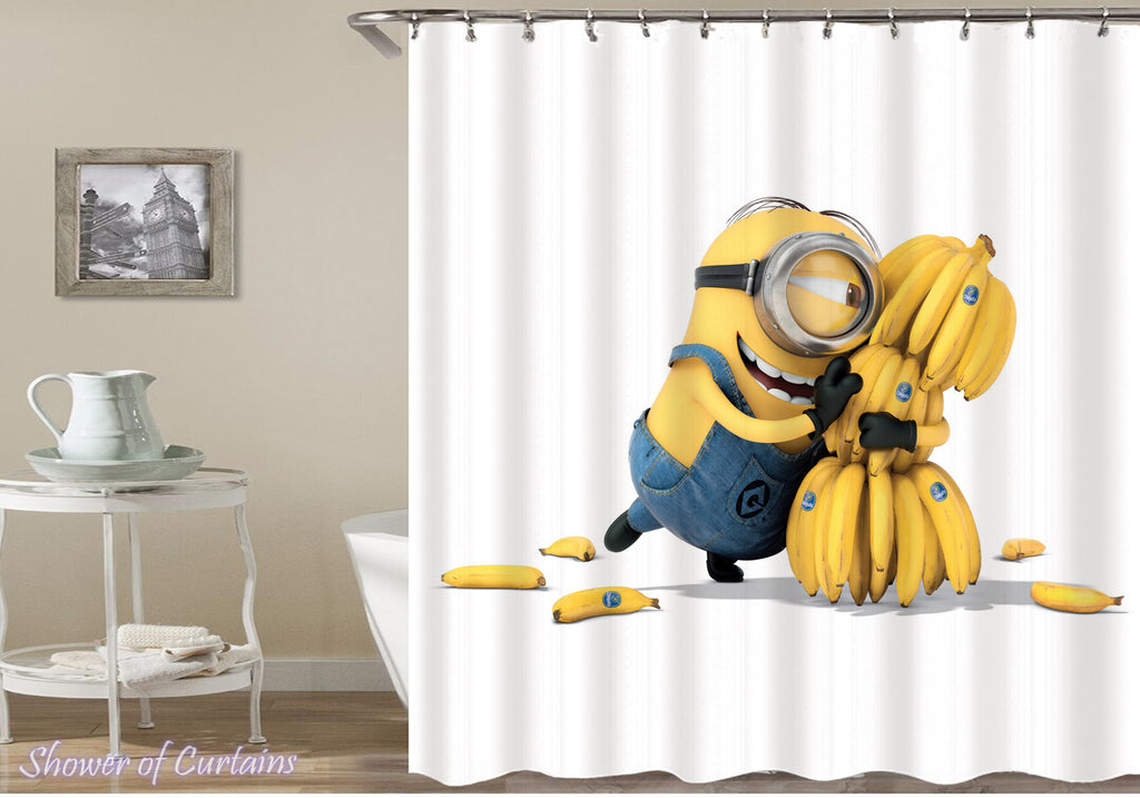 Minions Favorite Food Shower Curtain print