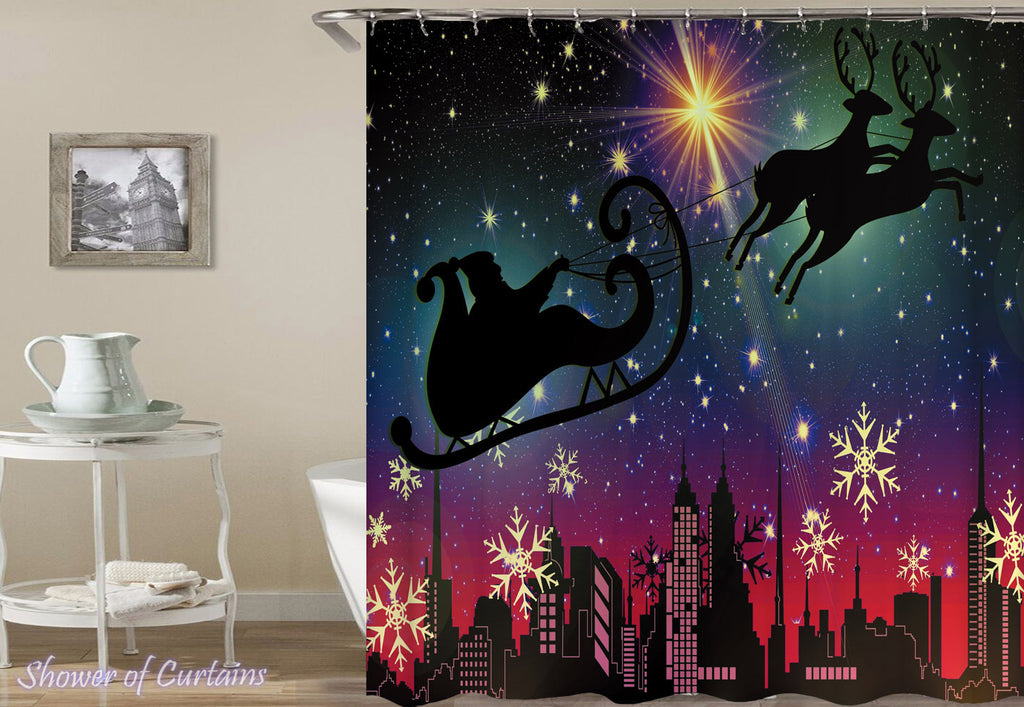 Modern Christmas Shower Curtains